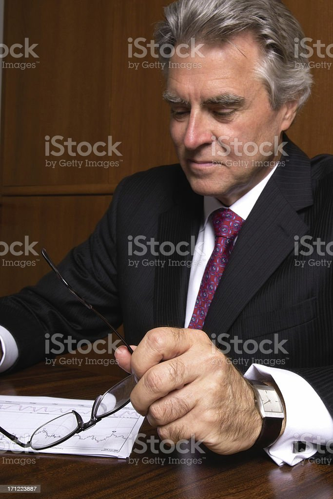 Accountant Analyzing Financial Data royalty-free stock photo