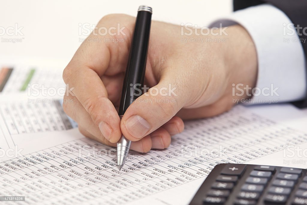 accountant working royalty-free stock photo