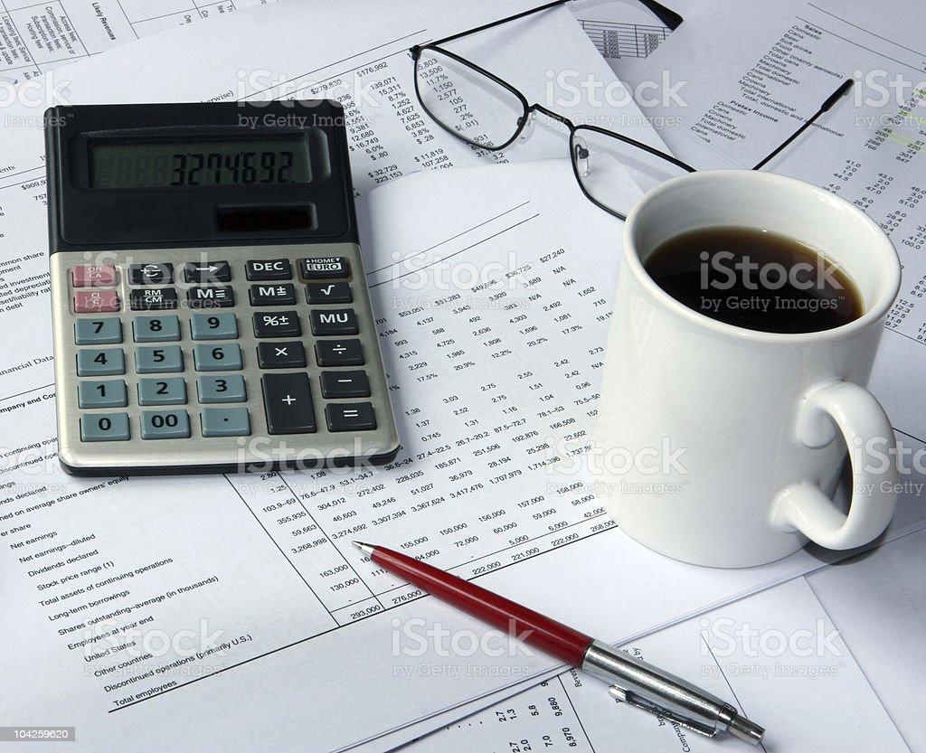 Accountant's 'survival kit' stock photo
