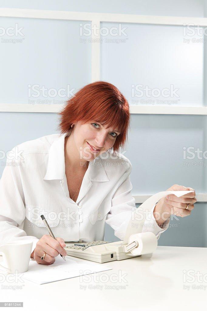 accounter at work royalty-free stock photo
