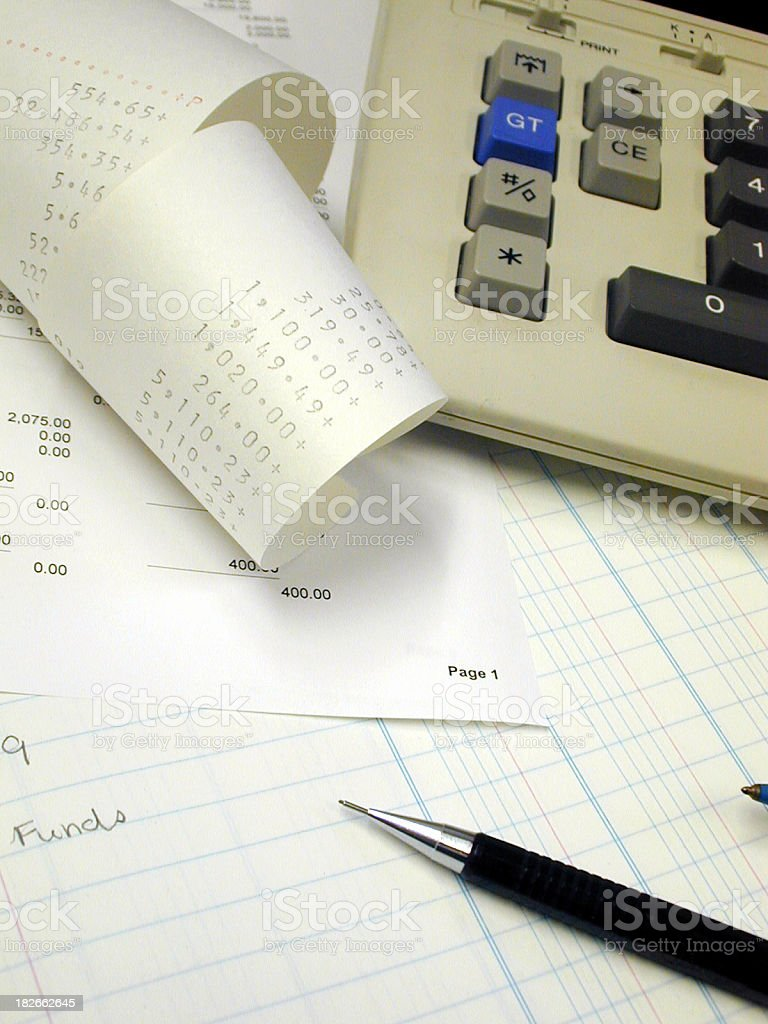 Accounting and Business tools stock photo