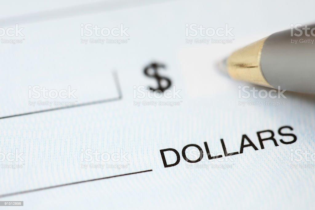 Accounting and check writing royalty-free stock photo