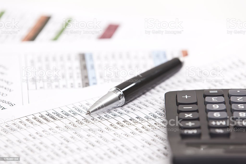 accounting and financial analysis stock photo