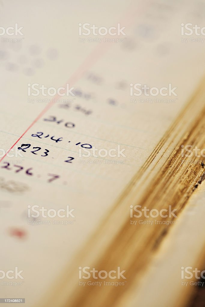 Accounting book stock photo