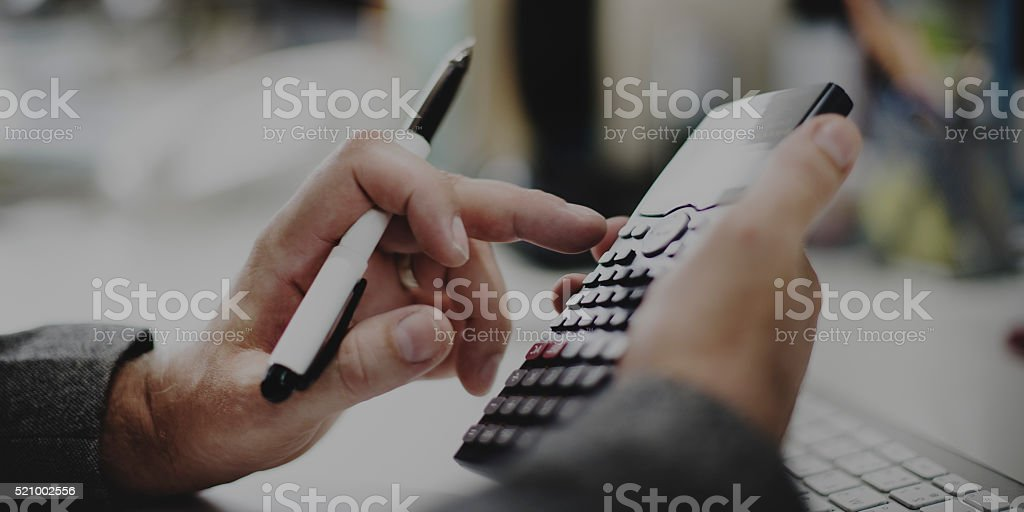 Accounting Calculating Mathematic Economic Finance Working Conce stock photo