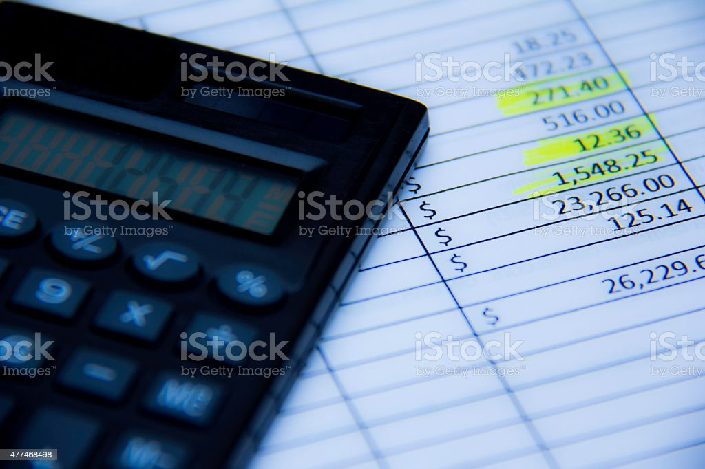 calculadora contabilidad stock photo