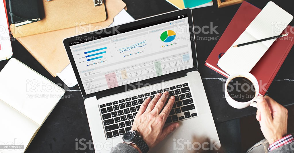 Accounting Finance Business Economy Banking Concept stock photo