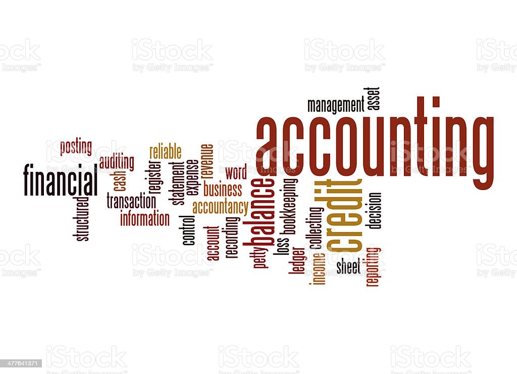 Accounting word cloud. royalty-free stock photo