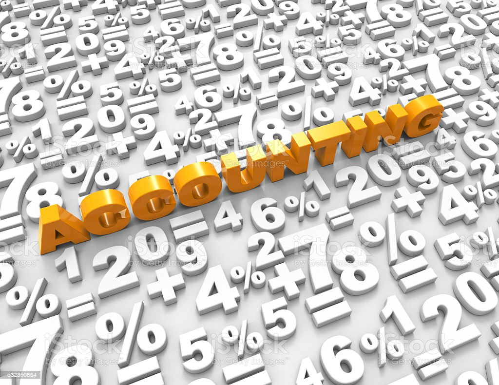 Accounting word with numbers concept stock photo