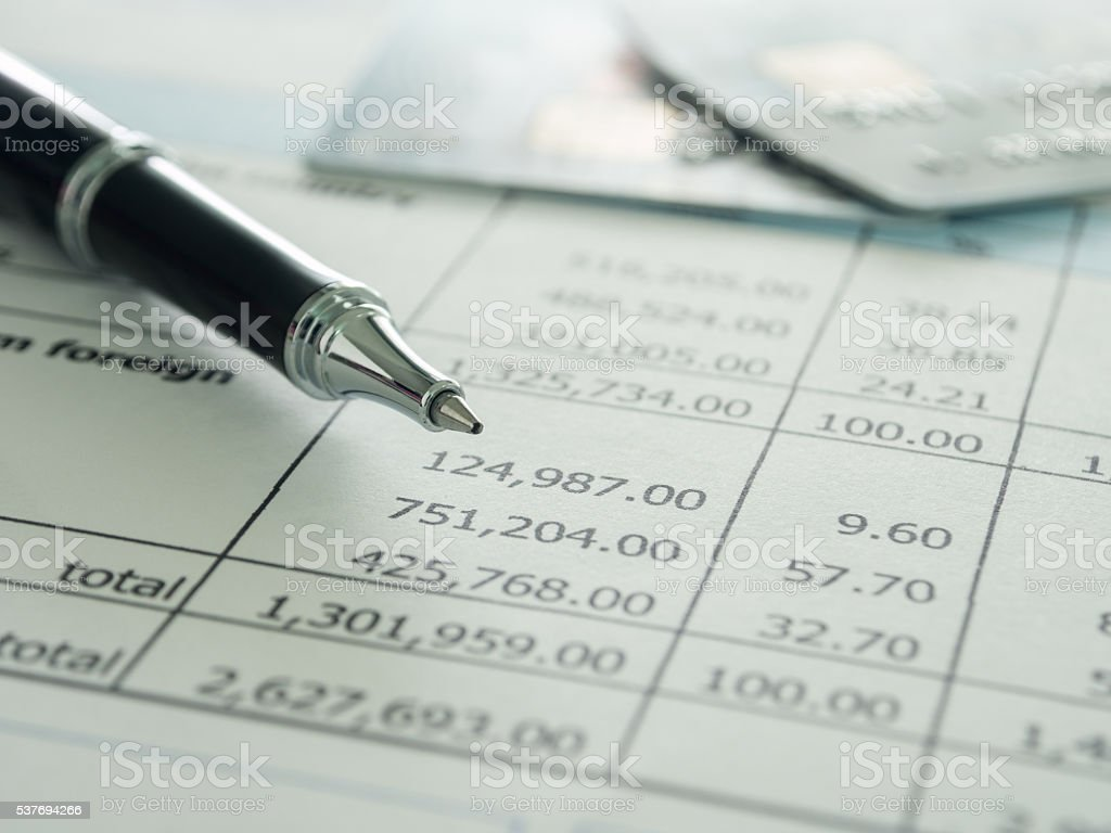 accounts and finance stock photo
