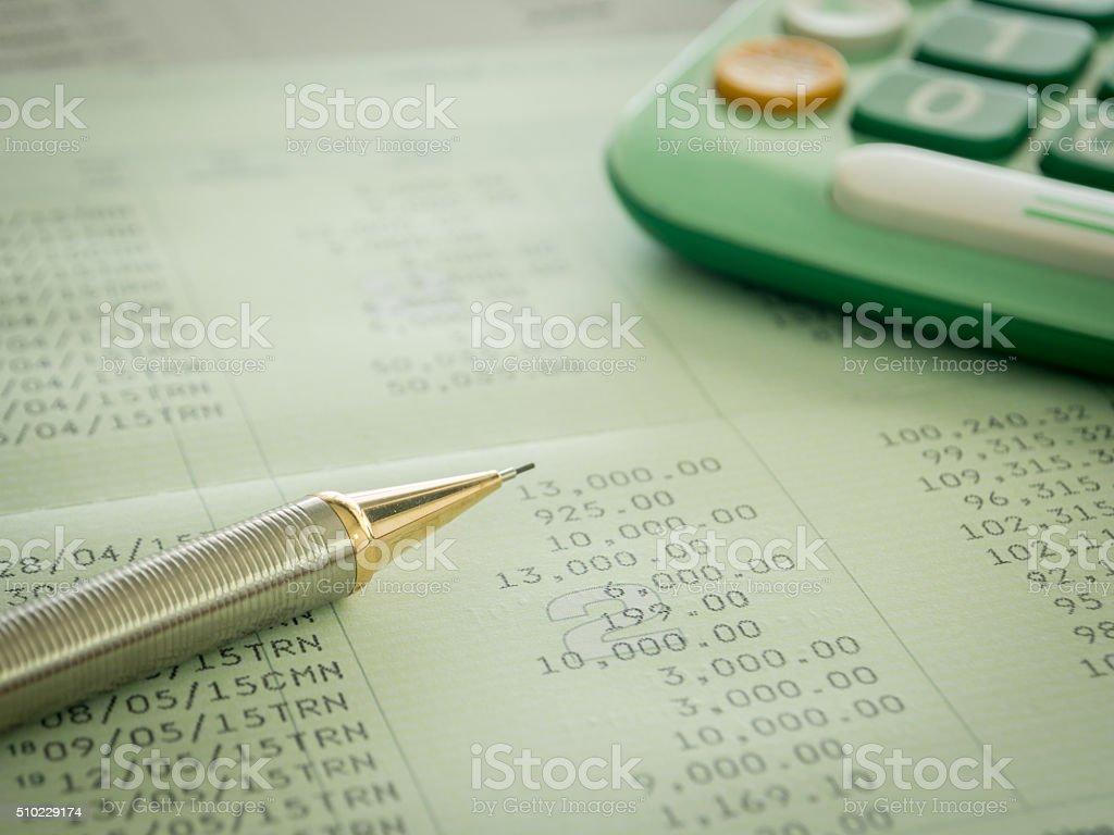 accounts and finances stock photo