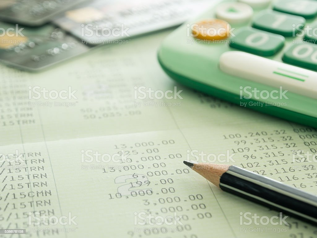 accounts and finances stock photo