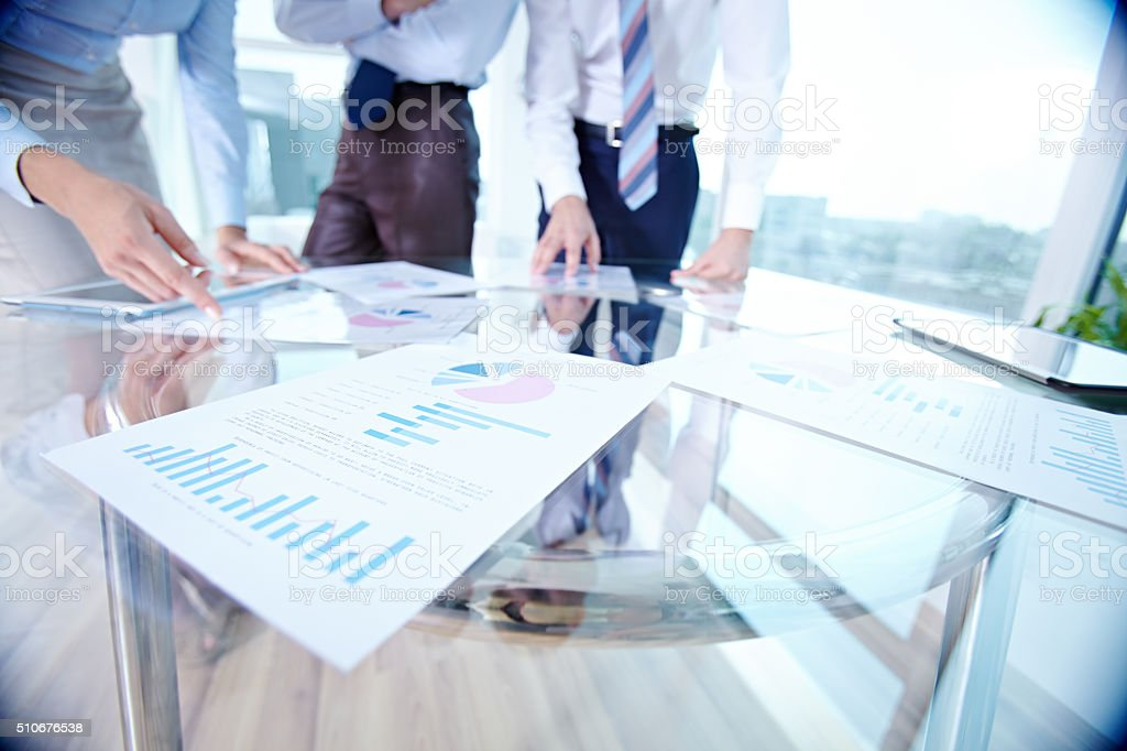 Accounts of business stock photo