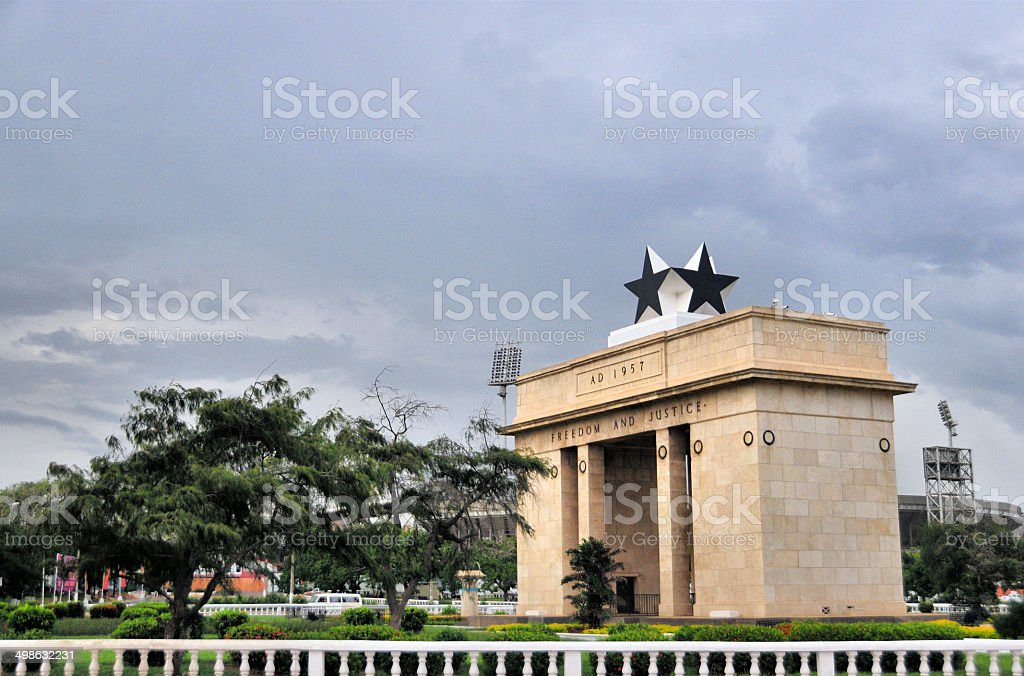 Accra, Ghana: Independence Arch stock photo