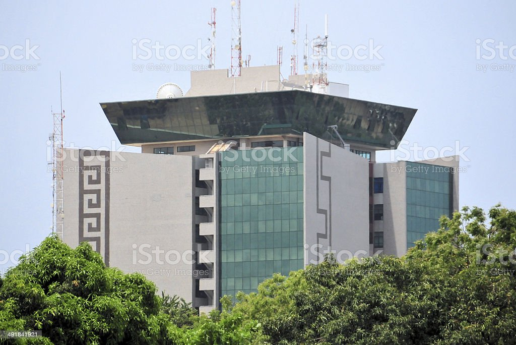 Accra, Ghana: office tower stock photo