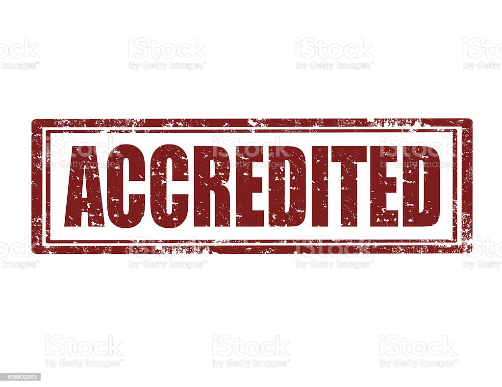 Accredited-stamp royalty-free stock photo