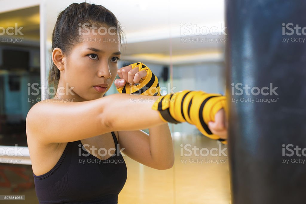 Accurate punch stock photo
