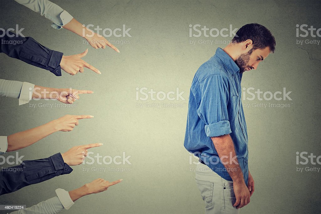 accusation of guilty person guy, young man stock photo