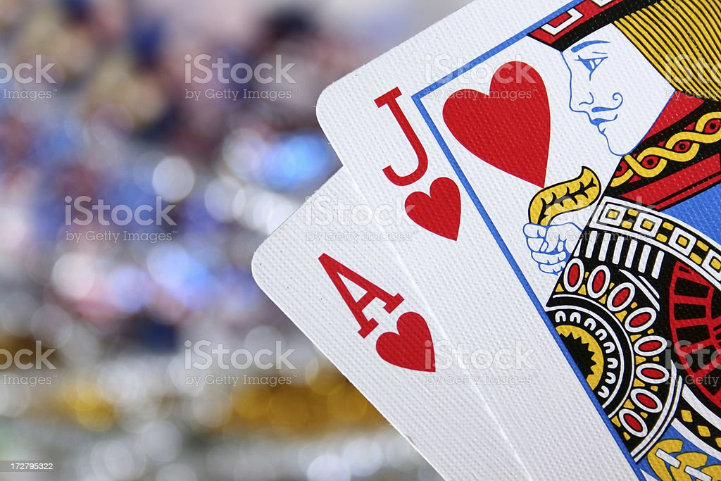 Ace and jack royalty-free stock photo