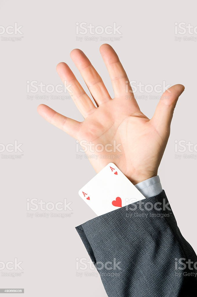 Ace card stock photo
