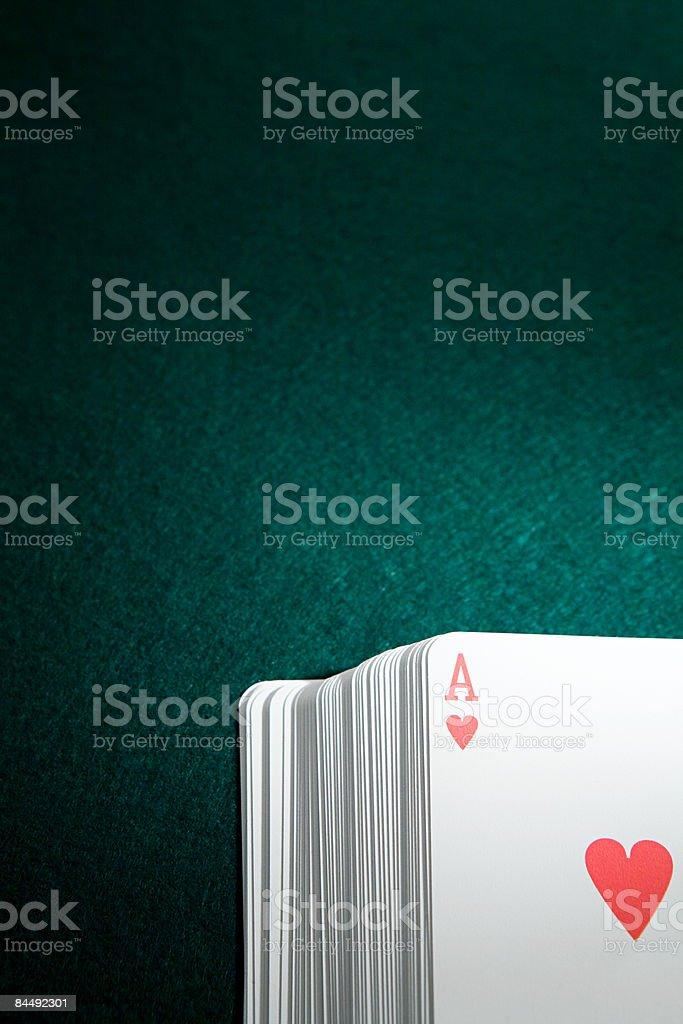 Ace in a pack of cards royalty-free stock photo