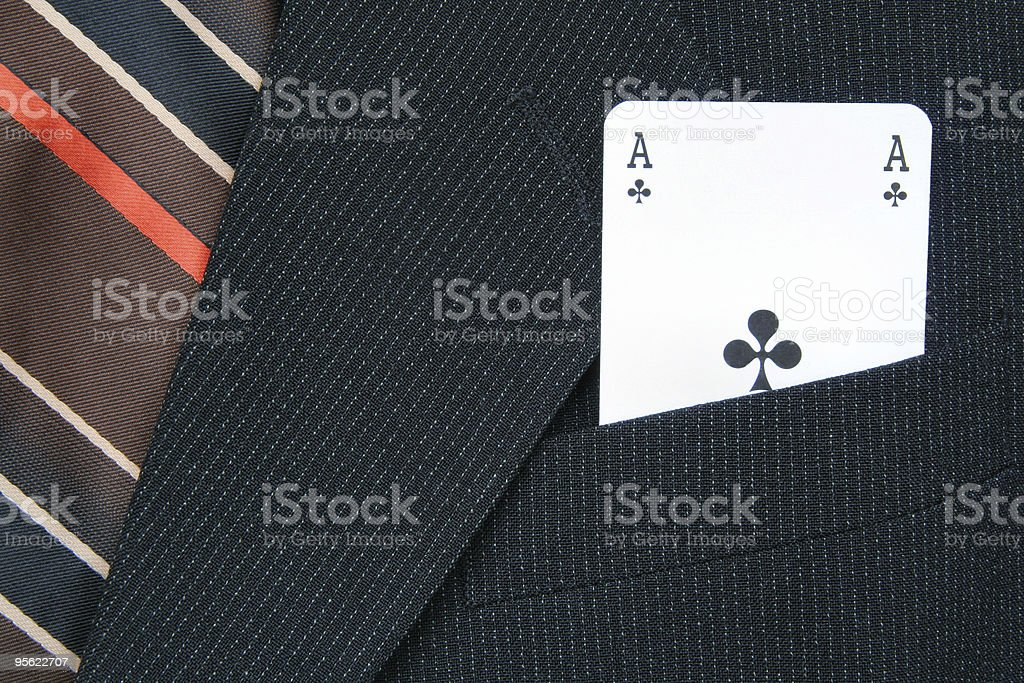 ace in the hole royalty-free stock photo