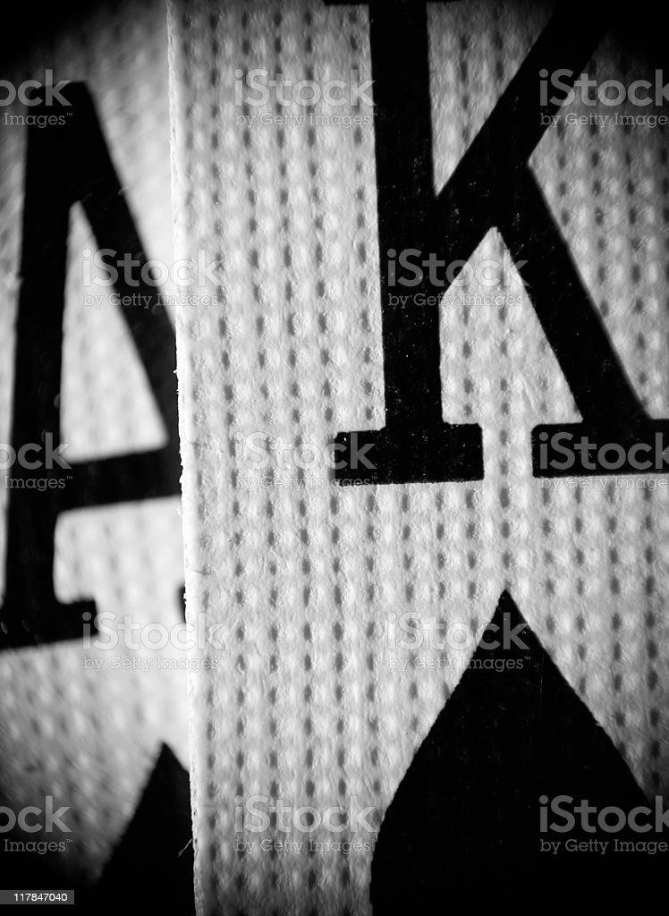 Ace King - Extreme Macro (XXL) royalty-free stock photo