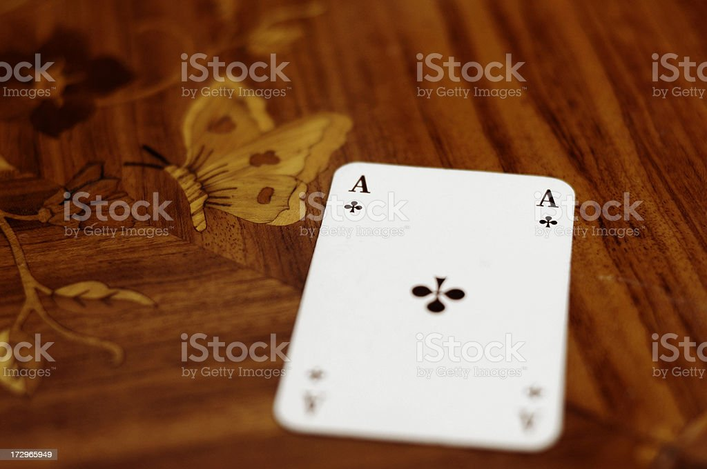 ace of clubs royalty-free stock photo