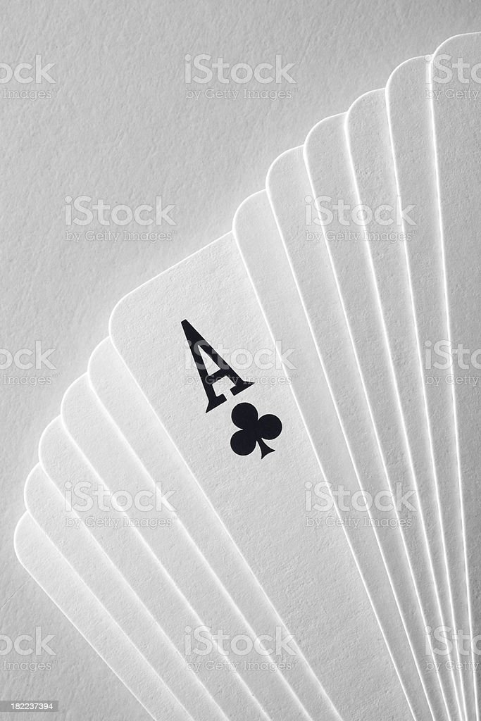 Ace of clubs stock photo