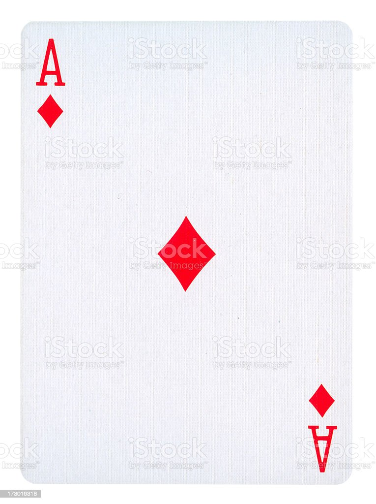 Ace Of Diamonds Isolated (clipping path included) royalty-free stock photo