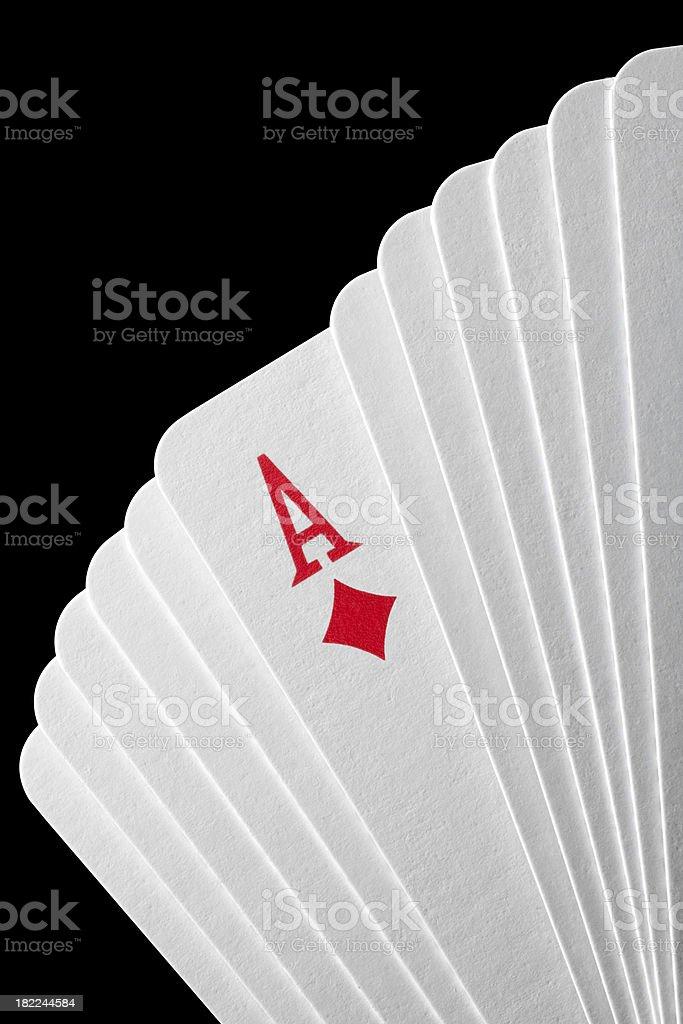 Ace of diamonds stock photo
