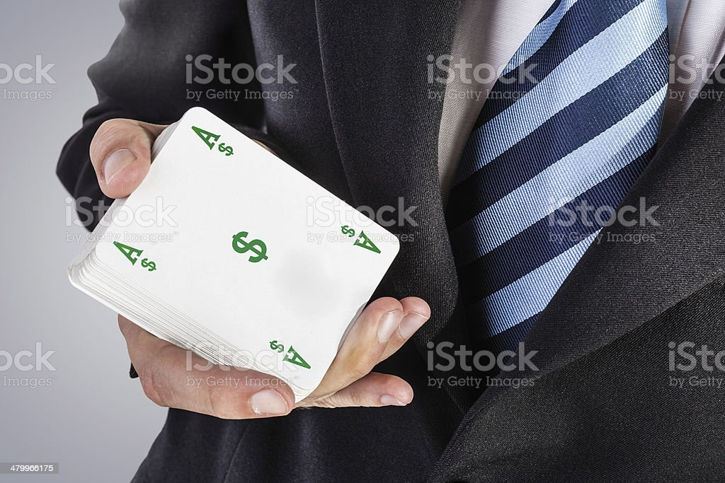 ace of dollars stock photo