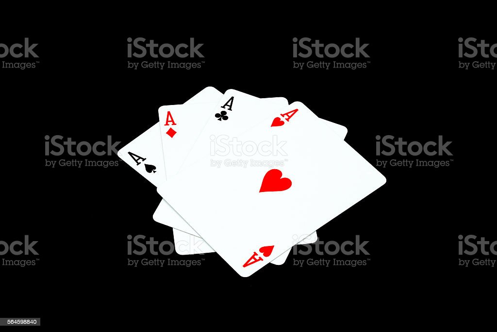 Ace of heart and other ace stock photo