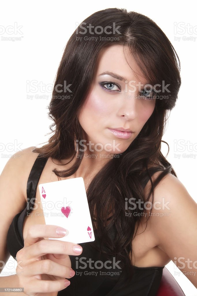 Ace of Hearts royalty-free stock photo