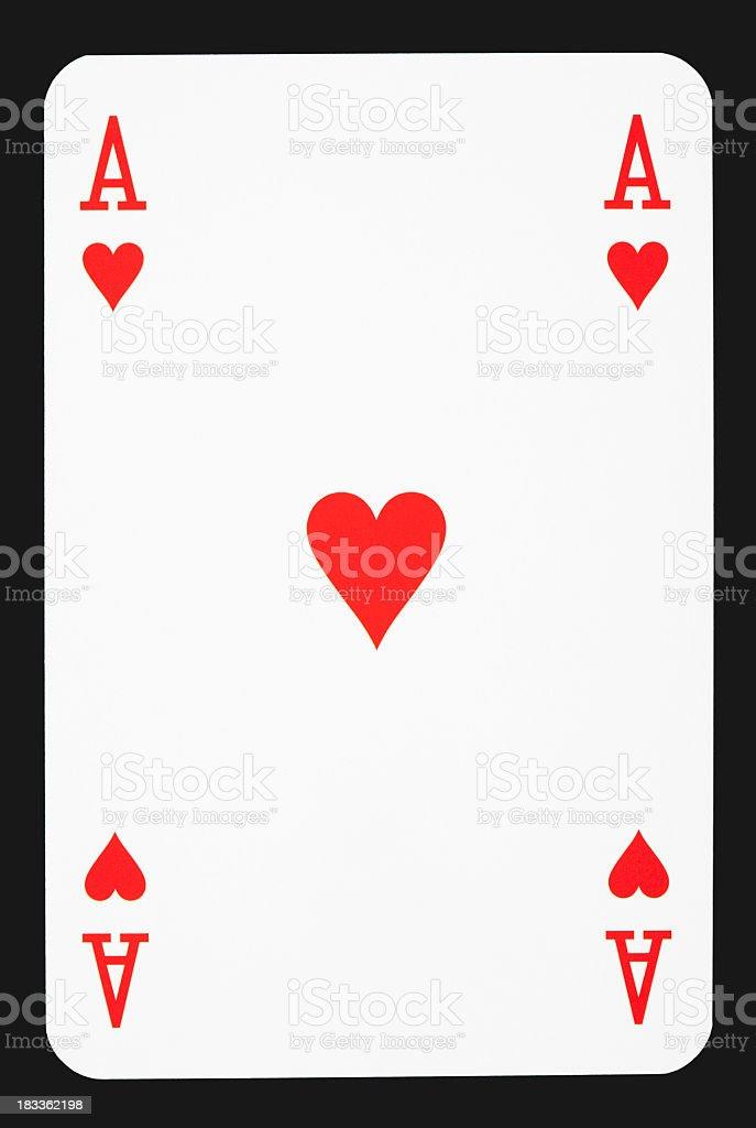 Ace of hearts royalty-free stock photo