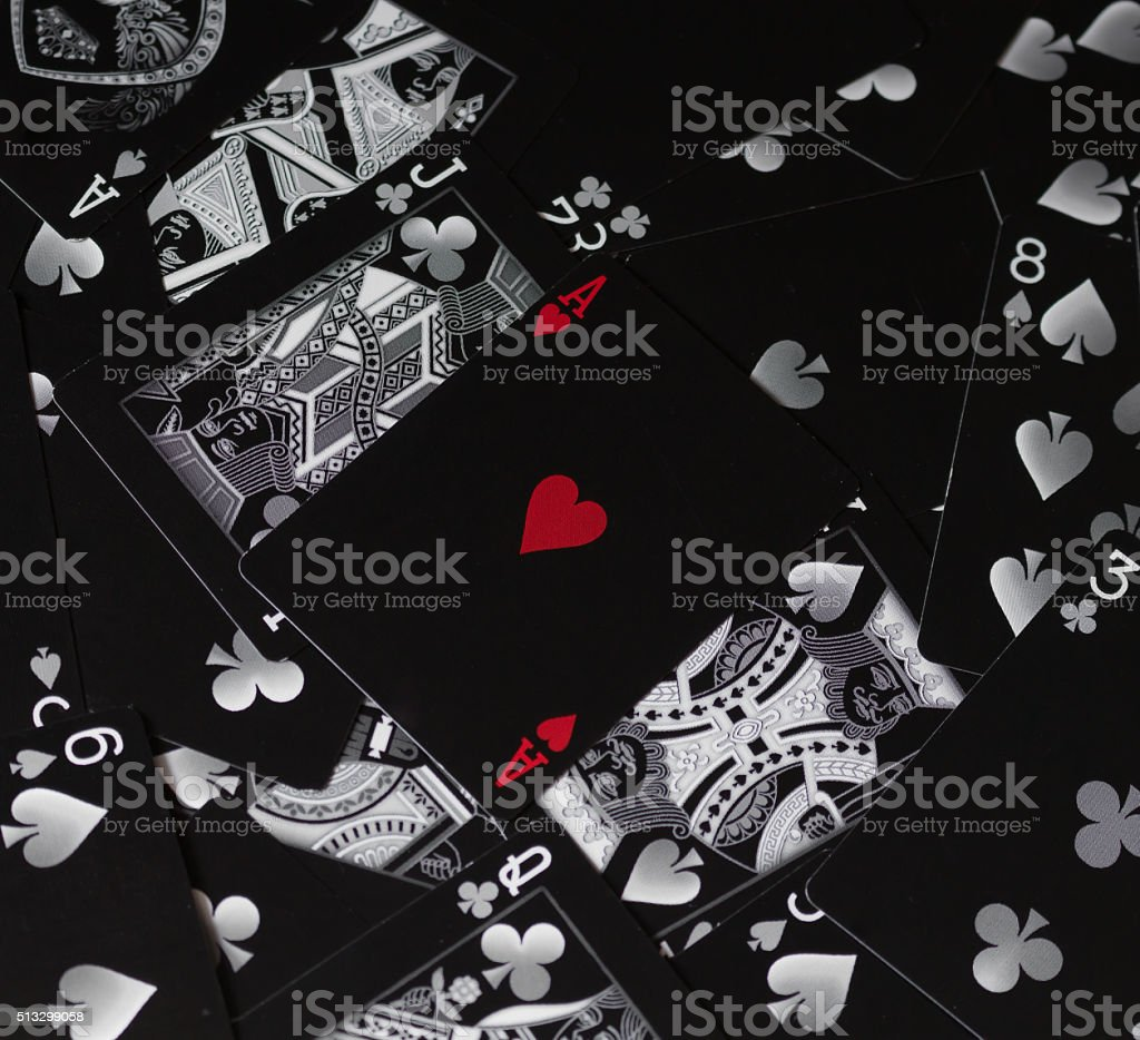 Ace of Hearts Playing Card stock photo