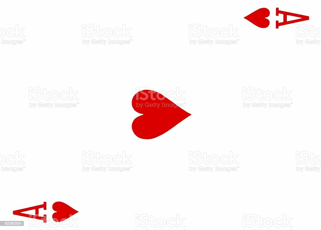 ace of hearts playing card royalty-free stock photo
