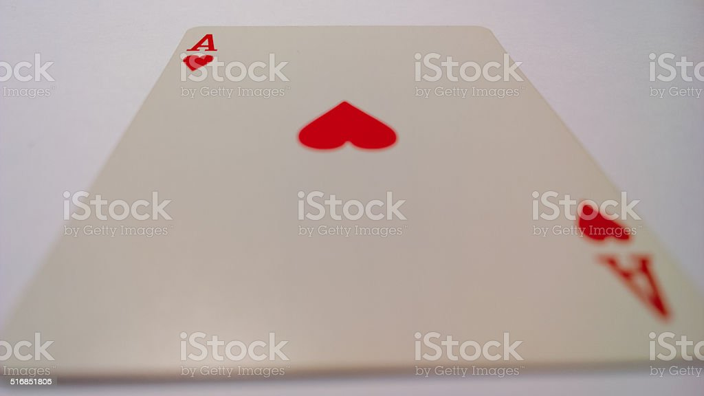 Ace of Hearts Surface Level stock photo