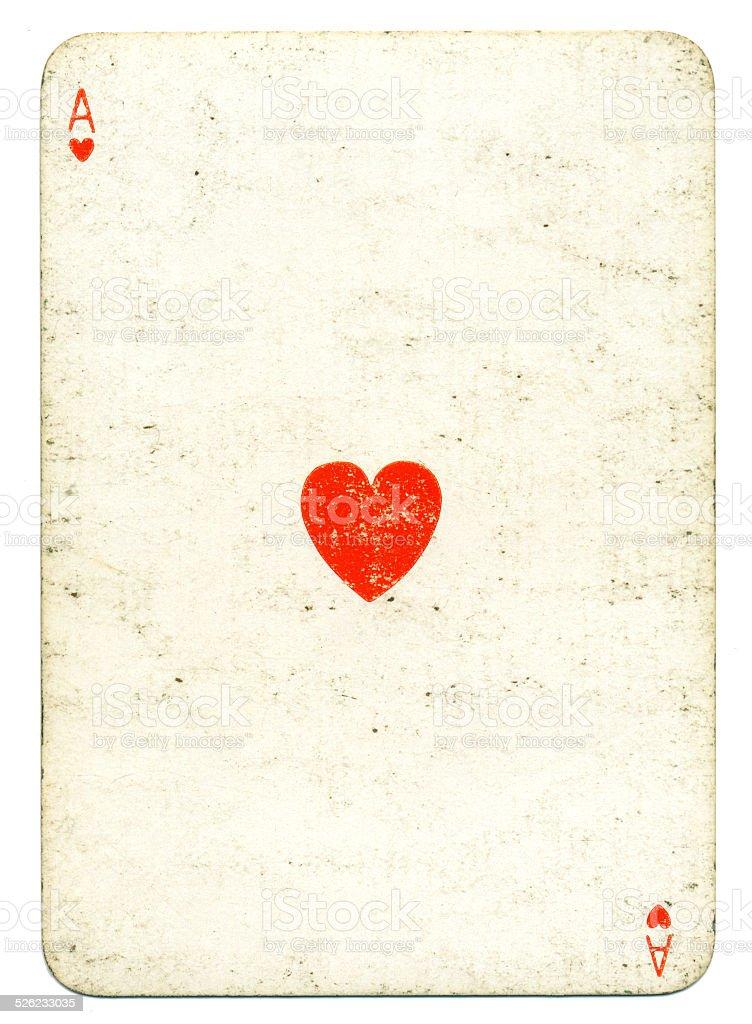 Ace of hearts The Empire Card Company London stock photo