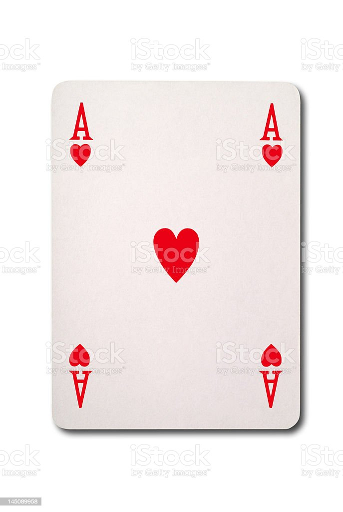 Ace of Hearts with clipping path stock photo