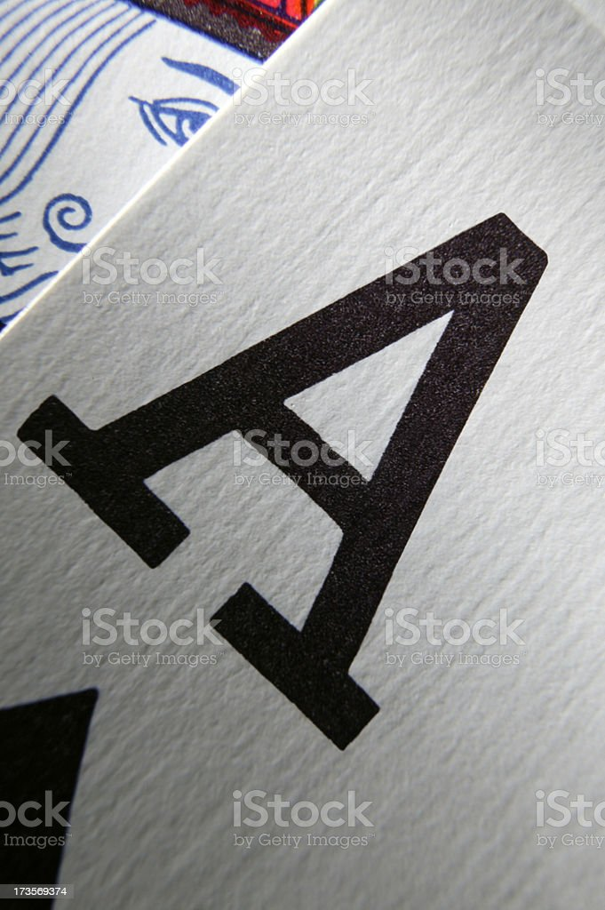 Ace of Spades 2 royalty-free stock photo