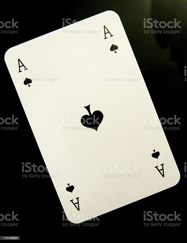 ace of spades stock photo
