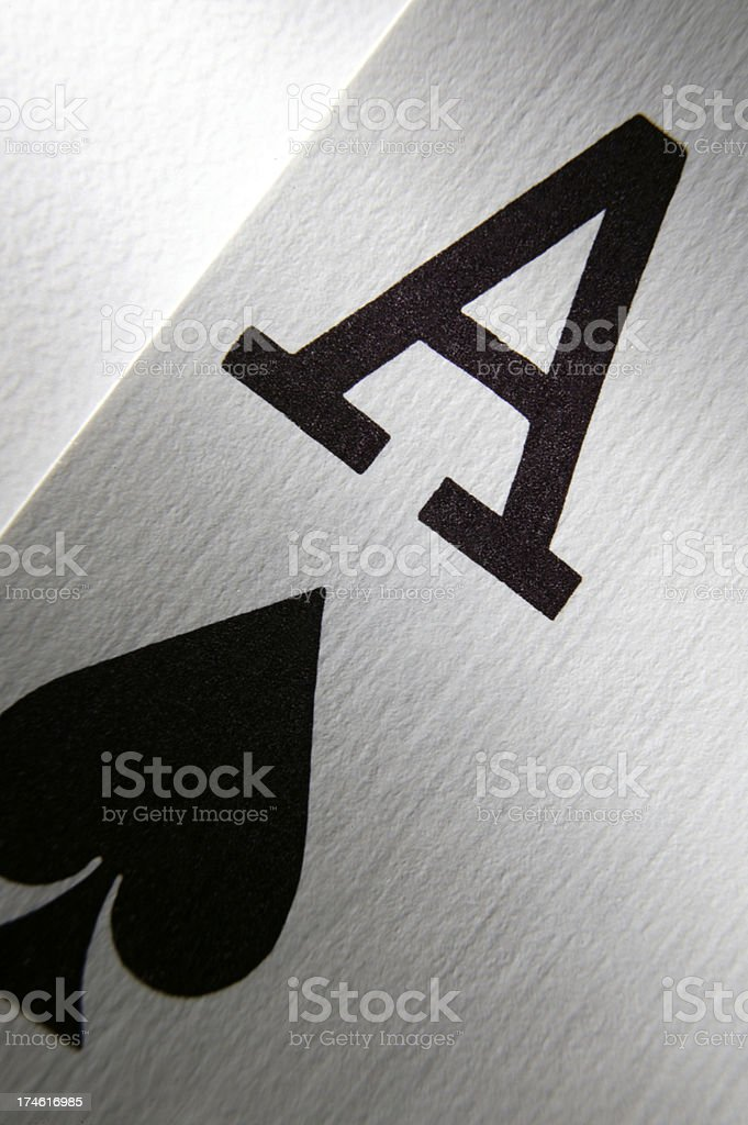 Ace of Spades royalty-free stock photo