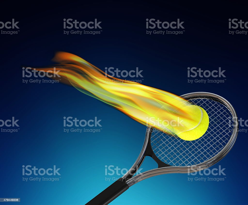Ace of tennis stock photo