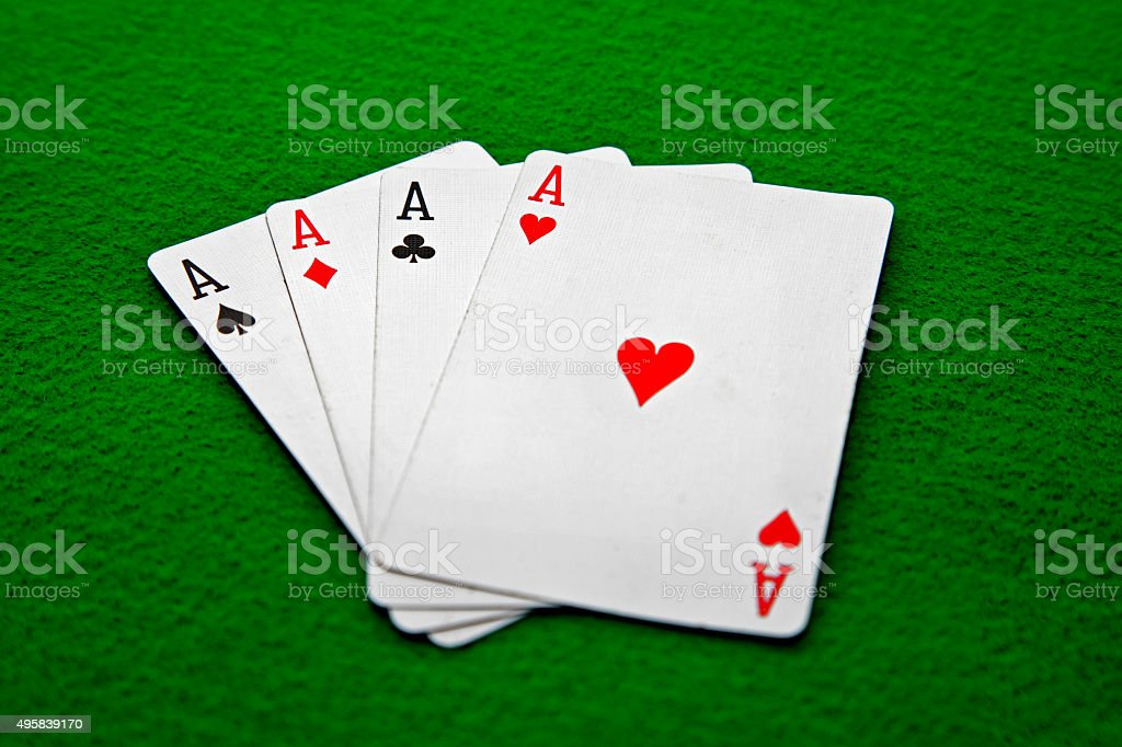 Ace Playing Cards stock photo