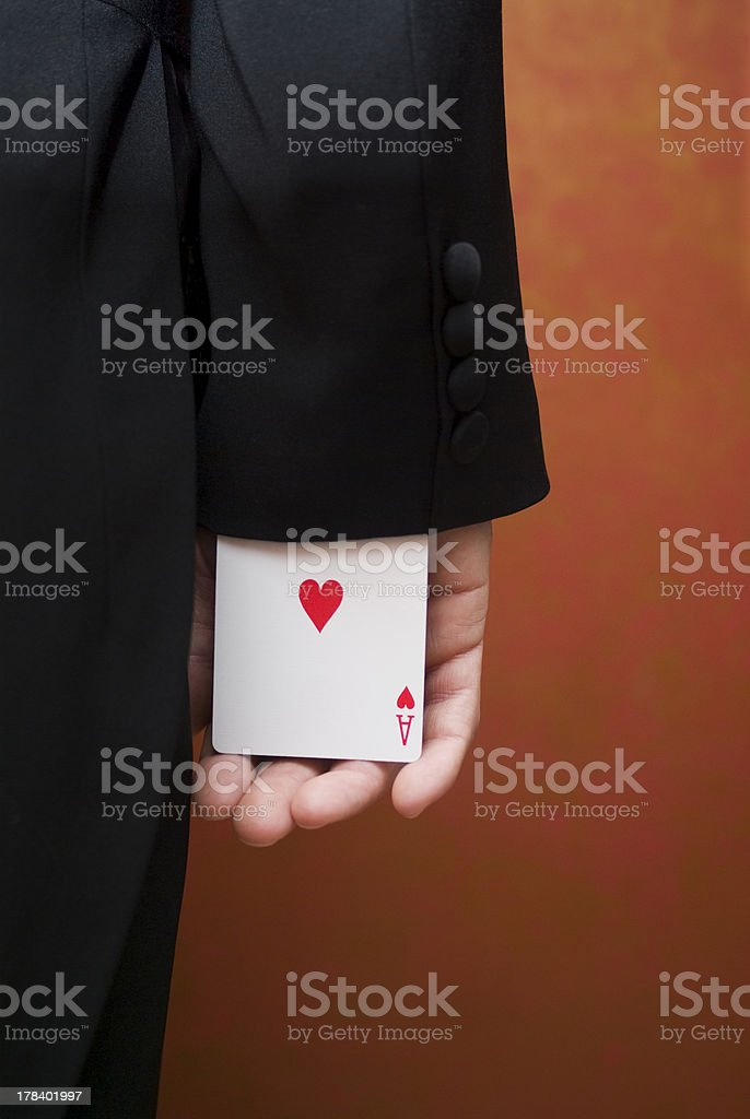 Ace up the sleeve royalty-free stock photo