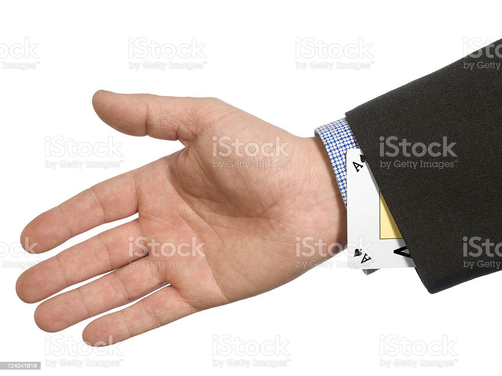 Ace up your sleeve stock photo