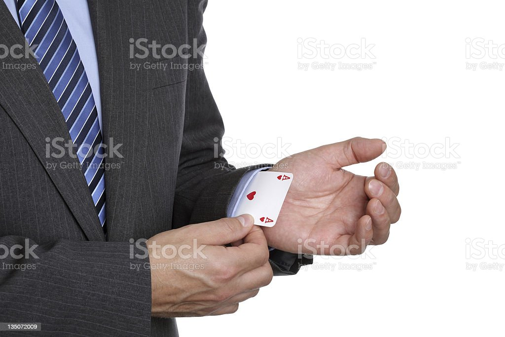 Ace up your sleeve royalty-free stock photo