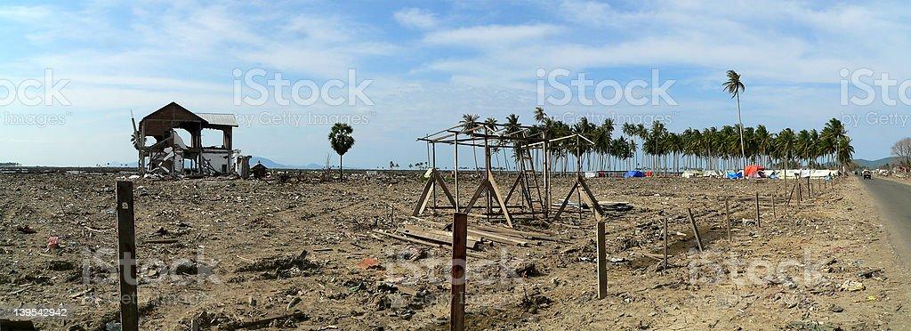 Aceh Tsunami Damage stock photo