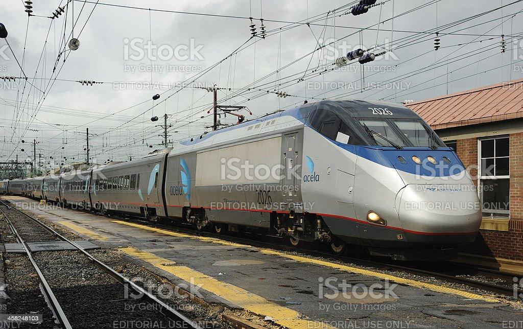Acela Express at Washington stock photo